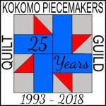 Kokomo Piecemakers 2018 25th Anniversary Pin final 2