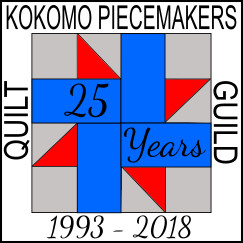 Kokomo Piecemakers 2018 25th Anniversary Pin final 2