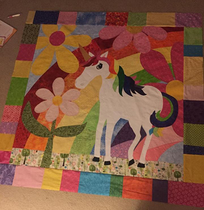 Unicorn Quilt - J. Manning copy